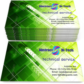 Abstract hi-tech arrows Business Card Template