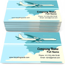 Altitude passenger plane Business Card Template