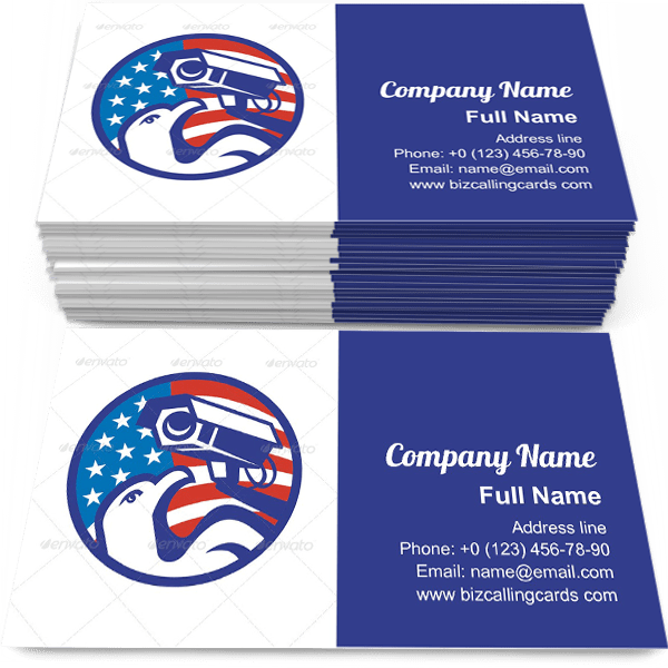 Sample of American Bald eagle Security Camera calling card design for advertisements marketing ideas and promote cctv branding identity