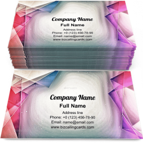 Artistic Polygon paint Business Card Template
