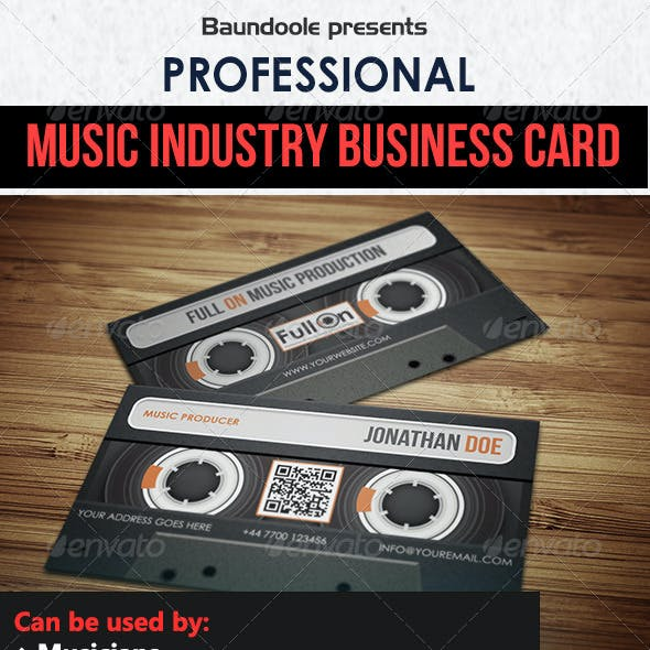 Audio Cassette Business Card for Music Industry Free Download