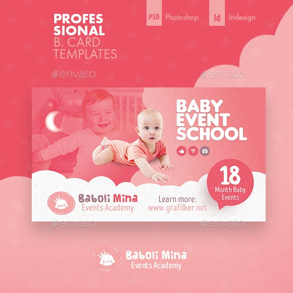 Baby Event Business Card Templates Free Download