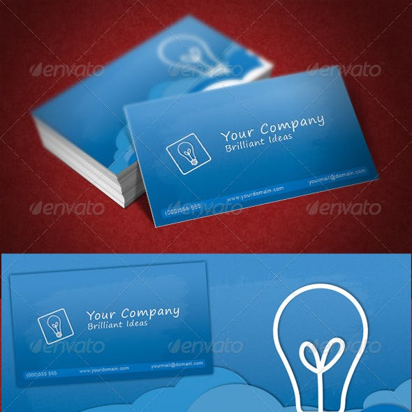 Blue Color of Business Cards