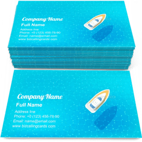 Boat on the blue sea Business Card Template