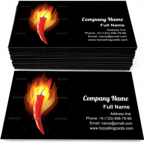 Burning Chilli Pepper Business Card Template