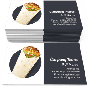 Burritos with Cheese Business Card Template