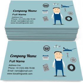 Car Mechanic Profession Business Card Template