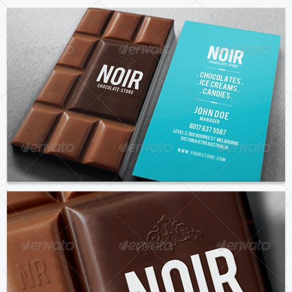 Chocolate Noir Stores Business Card Free Download