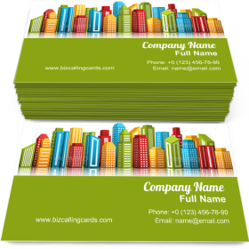 Colorful City Business Card Template
