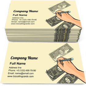 Counterfeiter Draws Business Card Template
