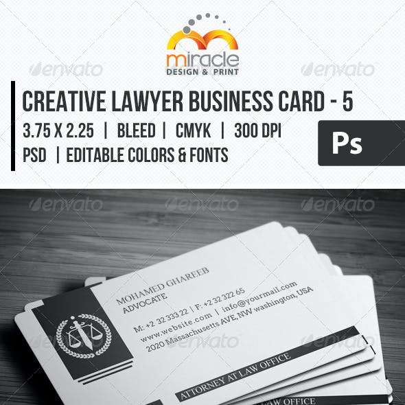 Creative Lawyer Business Card Free Download