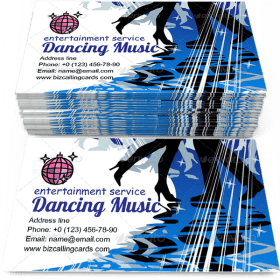 Dancing or music retro style Business Card Template