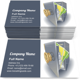 Data Protection Concept Business Card Template