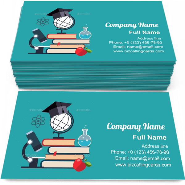 Sample of E-learning objects symbol calling card design for advertisements marketing ideas and promote knowledge branding identity