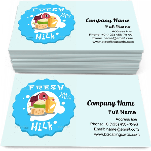Sample of Eco Fresh Farm calling card design for advertisements marketing ideas and promote agribusiness branding identity
