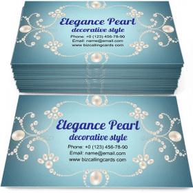 Elegance Pearl charm Business Card Template