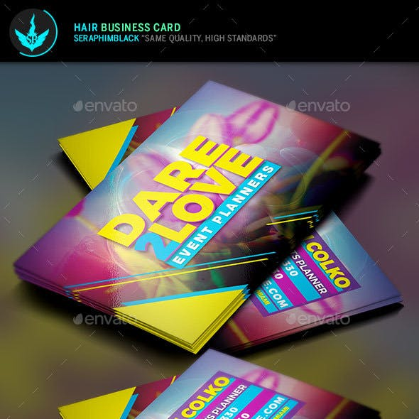 Event Planner Business Card Template Free Download