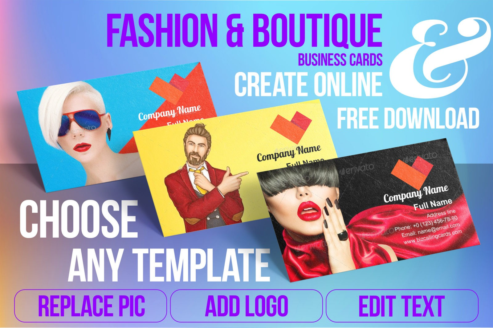 Business Card Templates For Fashion & Boutique Free Download