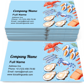 Fish superfood Business Card Template