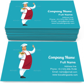 Funny chef character Business Card Template