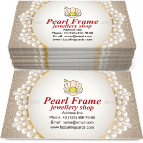 Glamour Pearl Frame Business Card Template