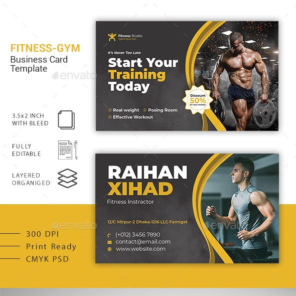 Gym Business Card Free Download