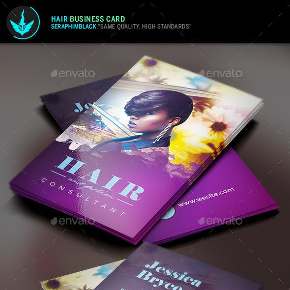 Hair and Fashion Business Card Template Free Download