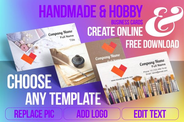 Business Card Templates For Handmade & Hobby Free Download