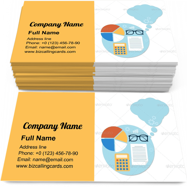 Sample of Headwork objects calling card design for advertisements marketing ideas and promote knowledge branding identity