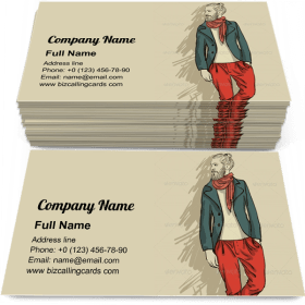 Hipster Man in Fashion Business Card Template