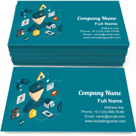 Home security protection Business Card Template