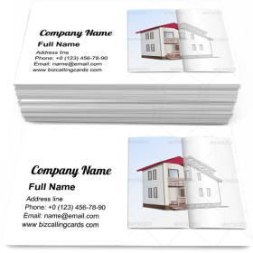 House Sketch Business Card Template