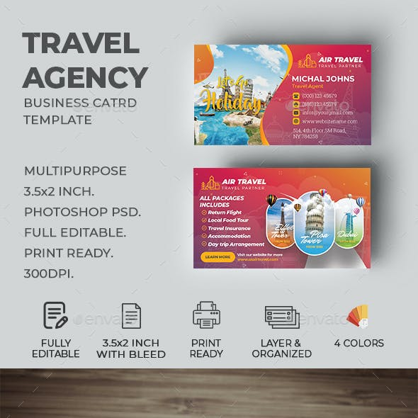 Travel Agency Business Card Free Download