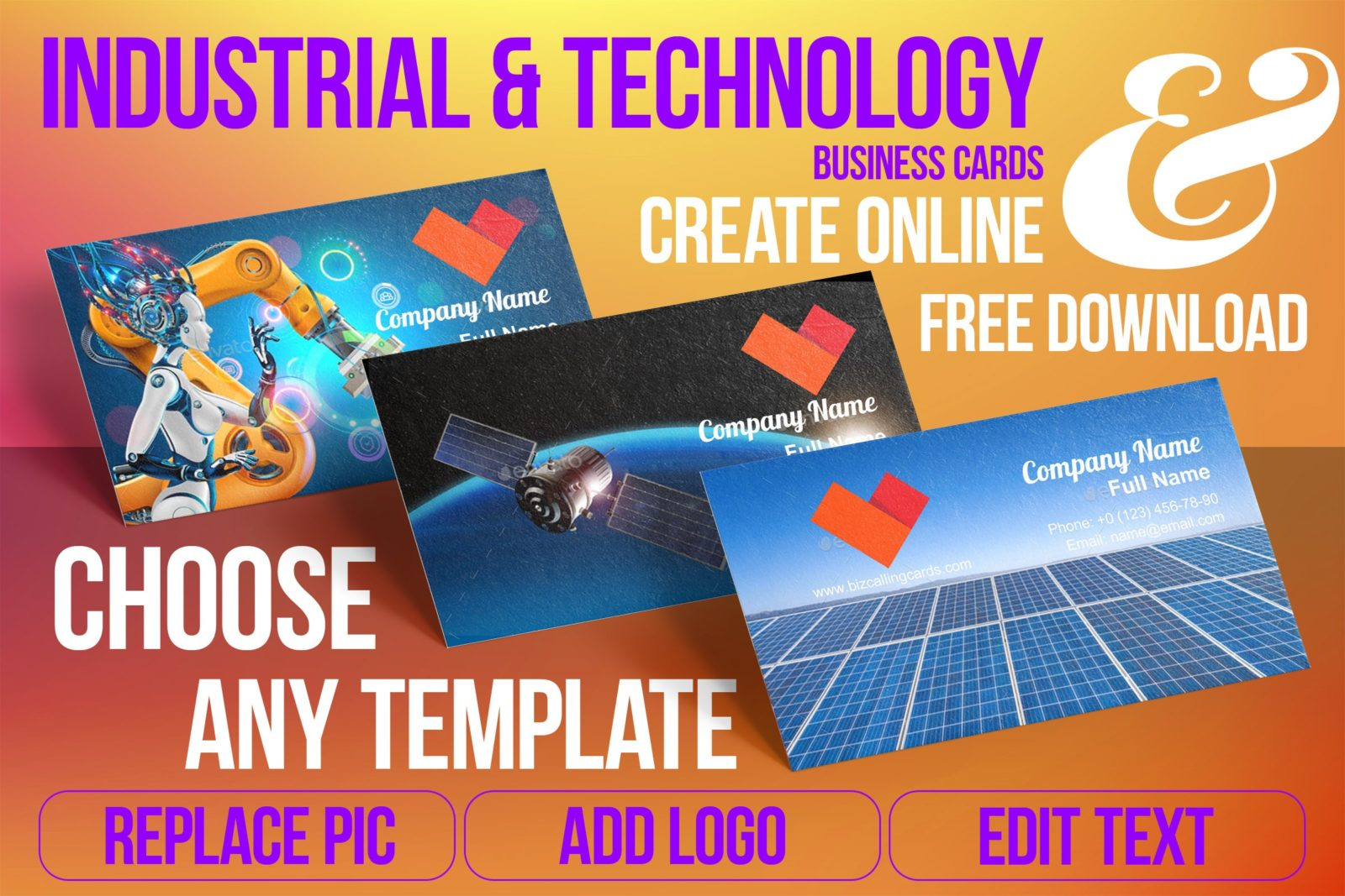 Business Card Templates For Industrial & Technology Free Download