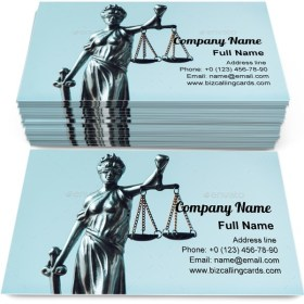 Law firm office Business Card Template