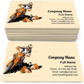 Motorcycle rider Business Card Template