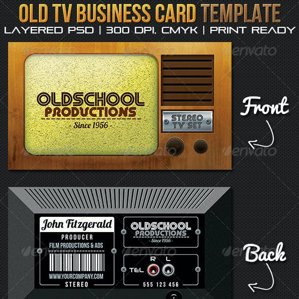 Oldschool Productions Business Card Template Free Download