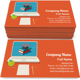 Online Education Business Card Template