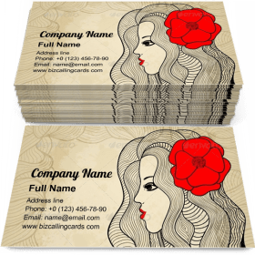 Passion beautiful girl Business Card Template