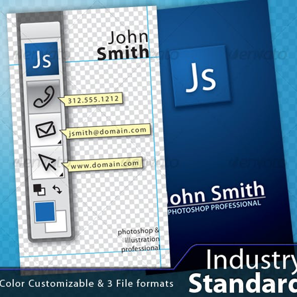 Photoshop Industry Standard business card Free Download
