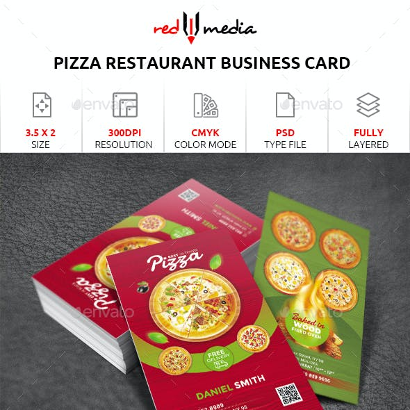 Pizza fastfood Restaurant Business Card Free Download