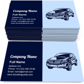 Powerful Automobile Business Card Template