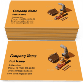 Professional plumbing tools Business Card Template