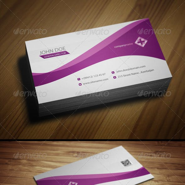 Purple Color of Business Cards