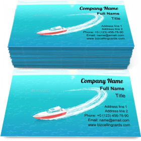 Rescue Emergency Boat Business Card Template