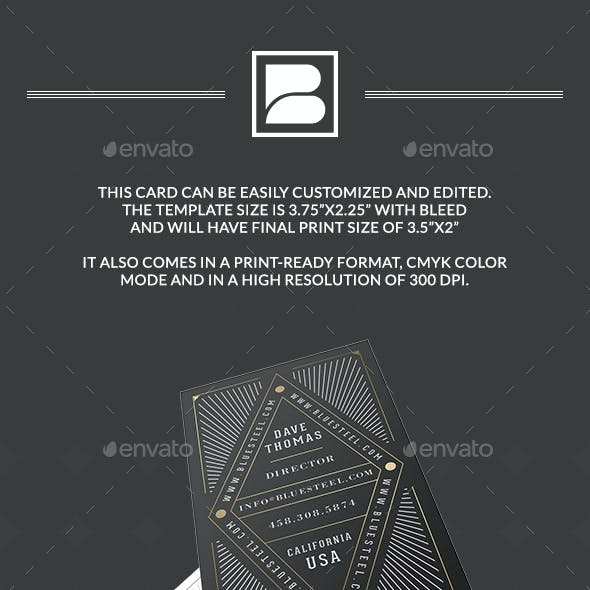 Retro Typography luxury Business Card Free Download