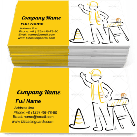 Road Under Construction Business Card Template