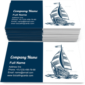 Sailing Ship on the Waves Business Card Template