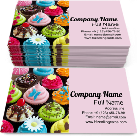 Assortment of Cupcakes Business Card Template
