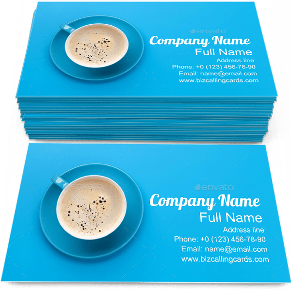 Sample of Coffee Cup calling card design for advertisements marketing ideas and promote barista branding identity